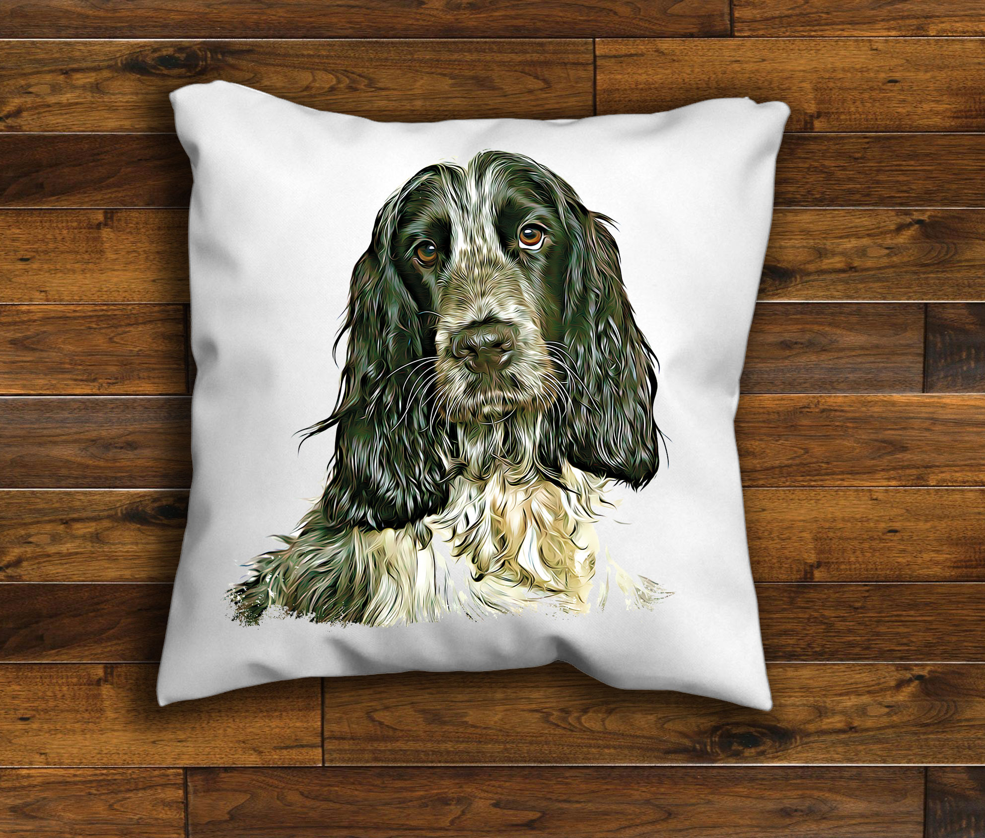 Cocker Spaniel Dog Unique Design Cushion Cover 16 Or 18